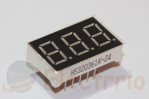 EL0482 DISPLAY LED ROJO 3 DÍGITOS 7 SEGMENTOS