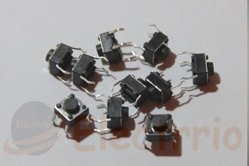 EL2233 LOTE 10 MINI PULSADORES 6x6x6 mm.